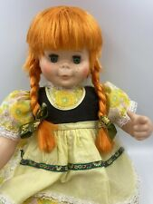 """Rare Vintage 1971 EEGEE Georgette Doll 22"""" Red Hair Green Eyes Pipi Doll"""
