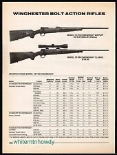 1994 WINCHESTER Model 70 Featherweight Wintuff & Classic Bolt Action Rifle AD