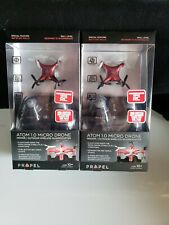 Lot of 2 Propel Atom Micro Drone Wireless Indoor/Outdoor Quadrocopter Red New