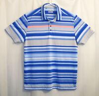 Under Armour Polo Golf Shirt XL Men's Multicolor Striped Short Sleeve Heatgear