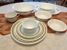 Corelle Green Spring Blossom/Crazy Daisy Dinnerware - by the piece