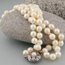 Perlenkette mit Rubinen in einer 835/- Silberschliesse