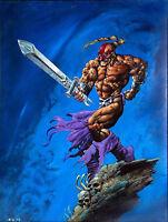 "Vintage 1994 Simon Bisley ""Weaponlord 1"" Original Art 18""x 24"" Painting Framed"