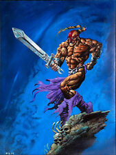 "Vintage 1994 Simon Bisley ""Weaponlord 1"" Original Art 18""x 24"" Painting Framed"