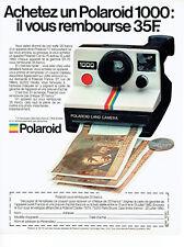 Publicité Advertising 127  1980  appareil photo Polaroid 1000 land camera