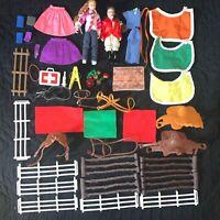 Vintage Breyer Rider Figure Dolls Saddles Bridles Blankets Fences Accessories