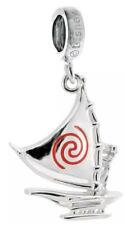 Genuine Chamilia Silver Disney Moana Boat Set Sail Logo Charm Bracelet Bead NEW