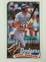 1989 Topps Baseball Talk Collection Kirk Gibson #67 Dodgers