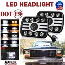 5x7'' 7x6''inch Rectangular LED Headlights Hi-Lo Beam For Nissan Pickup Hardbody