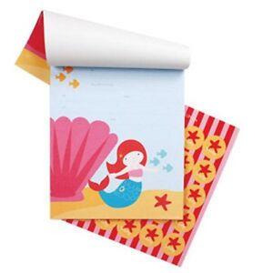Mermaid INVITATIONS Under the Sea Birthday Party 25 pcs plus stickers