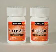 Kirkland Sleep Aid sleeping pills 192 caplets Doxylamine Succinate 25 mg Tablets