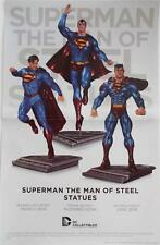 Superman The Man Of Steel Statues Dc Collectibles Promotional Poster