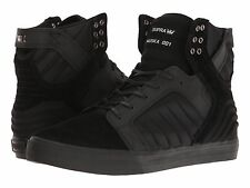 NEW SUPRA SKYTOP EVO BLACK BLACK SURF SKATEBOARD HIP HOP SPORTS SHOES 9.5