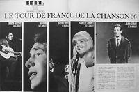 PUBLICITÉ 1966 RTL LE TOUR DE FRANCE DE LA CHANSON MACIAS ADAMO DISTEL FERRAT