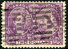 CANADA-1897 Jubilee $2 Deep Violet Sg 137 GOOD USED V30129