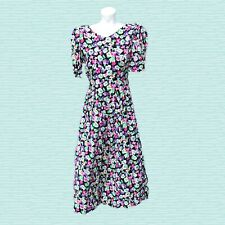 New listing 80s Lanz Originals Floral Dress Vintage Long Empire Waist