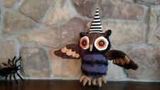 """NWT Music & MOTION 13"""" Spooky Purple Witch OWL Animated HALLOWEEN Decoration  B"""
