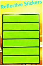 6 Reflective High Visibility Stick On Strips Safety Reflector Stickers Hi Vis