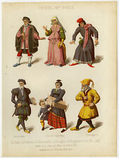 Antique Print-SWISS COSTUME-LAWYER-COUNTESS-JEW-FAMILY-Sere-Thurwanger-1858