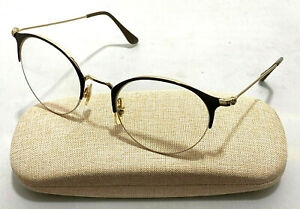 RAY-BAN RB 3578V 2905 Gold Metal Round Brown Eyeglasses Frames