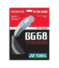 10 x PACKETS YONEX BG68Ti WHITE BADMINTON RACKET STRING 100% GENUINE