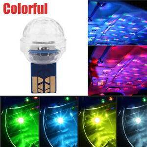 Mini USB LED Car Interior Light Neon Atmosphere Ambient Music Control Lamp