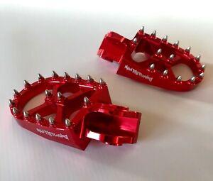 13-19 BETA RR 250 300 350 450 480 RED WIDE BILLET FOOT PEGS