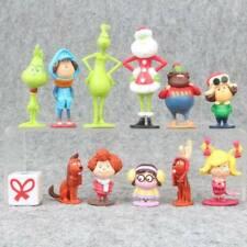 Le Grinch Film 12PCS Modèle Figurine Poupée Jouets 9-15cm pour Cadeau Enfant