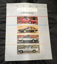 1986 Mazda Cars and Trucks Original Dealer Sales Brochure RX-7 626 323 B2000