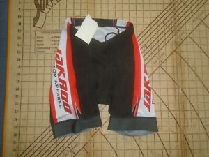 MENS XSMALL BLACK/WHITE/RED CYCLING SHORTS - NWT