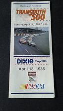 1985 Darlington Nascar Transouth 500 Ticket Brochure