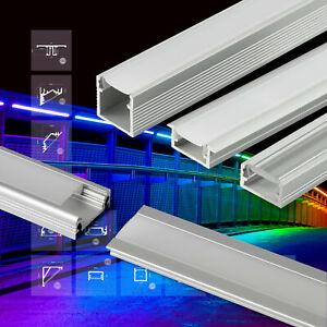 LED Profil Aluminium Leiste für Streifen Beleuchtung Kanal Aluprofil Profile