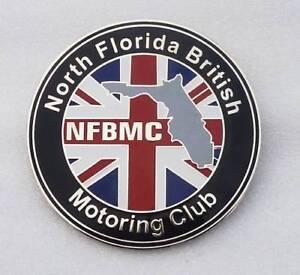 NORTH FLORIDA BRITISH MOTORING CLUB CAR GRILL BADGE EMBLEM MG JAGUAR TRIUMPH POR