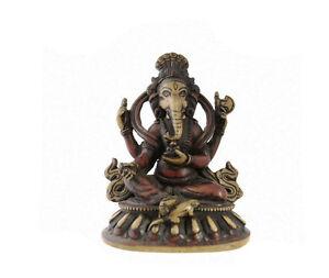 Estatua De Ganesh Elefante Resina Amuleto la Suerte Bicolor NEP45-3122