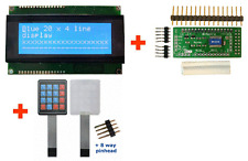 I2C & Serial 20x4 LCD Dsiplay (Blue) + Keypad Controller + Keypad BV4618