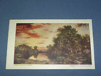 VINTAGE  SUNSET ON LONG ISLAND  NEW YORK   POSTCARD
