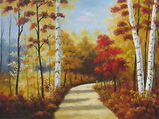 """Fall in the South Original Hand Painted 24""""x36"""" Oil Painting Landscape Art"""