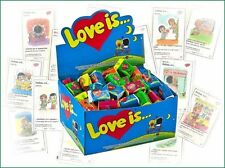 Super Bubble Gum LOVE IS Любовь Это 1 box 100pcs pack Strawberry + Banana FRESH