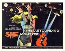 Astounding She Monster Poster 03 Metal Sign A4 12x8 Aluminium