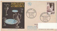 6/5/1954 - FDC - Les métiers d' art, porcelaine et cristaux  Yvert & Tellier 942