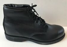 "NWD Men's 6"" Black Leather Steel Toe Boot - Size 9 Medium"