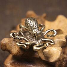 Handmade Pure Copper Octopus Handle Piece Tea Ceremony Animal Tea Pet