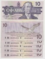 Canada $10 (1989) BC-57c  Knight/Thiessen XF Banknotes ✹DB L50✹