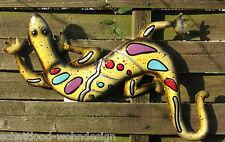 colgante de pared Gecko Objeto Para Decoración Lagarto Metal