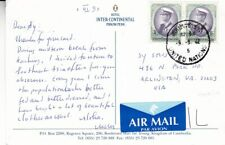 1999 Thailand #1743(2) w United Nation cncl on Cambodia Hotel Post Card to Us *d