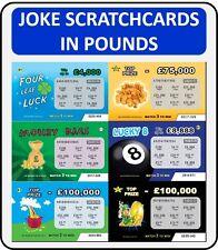 50 Joke Prank Lottery scratch cards scratchcard fake APRIL FOOLS JOKE!