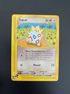 Togepi 114/147 Common Aquapolis 2002 Near Mint Pokemon Card