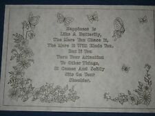 * Tri Chem 7232 Happiness If Like A Butterfly Poem Picture to paint Trichem