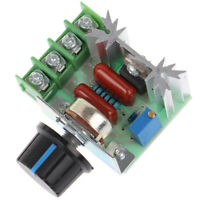 1Pc 50-220V 2000W Speed Controller Dimmers SCR Voltage Regulator Thermostat  BY