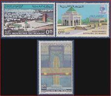 1971 MAROC N°622/624** Mausolée de Mohamed V TB, 1971 MOROCCO MNH